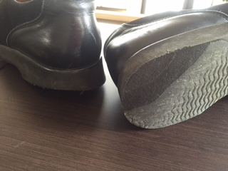 紳士靴 かかと一部交換