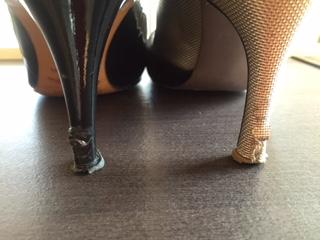 婦人靴 リフト&キズ補修