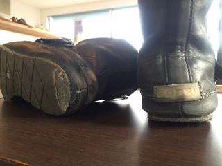 婦人靴 かかと破れ&リフト一部補修