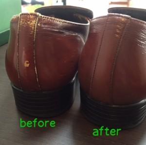 紳士靴 補色