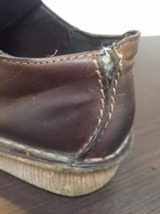 紳士靴 ほつれ直し