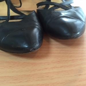 婦人靴 つま先部分甲革交換