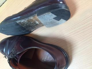 紳士靴 トップリフト交換