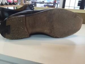 紳士靴修理 つま先・ハフソール・リフト