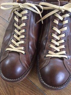 靴磨き&靴ひも交換